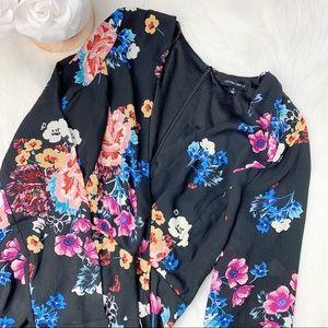 Cotton Candy LA Floral Long Sleeve Romper